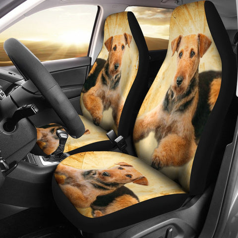 Airedale Terrier Print Car Seat Covers