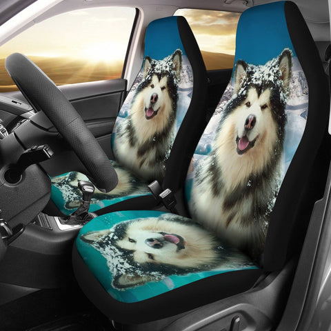 Alaskan Malamute Print Car Seat Covers