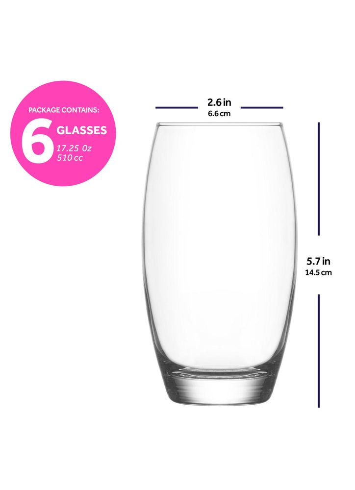 LAV Empire 12-Piece Drinking Glasses & Tumblers Set