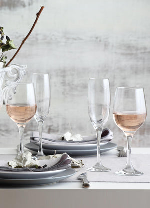 LAV Fame 6-Piece Clear Wine Glasses 13.25 oz