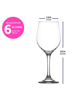 Load image into Gallery viewer, LAV Fame 6-Piece Clear Wine Glasses 13.25 oz