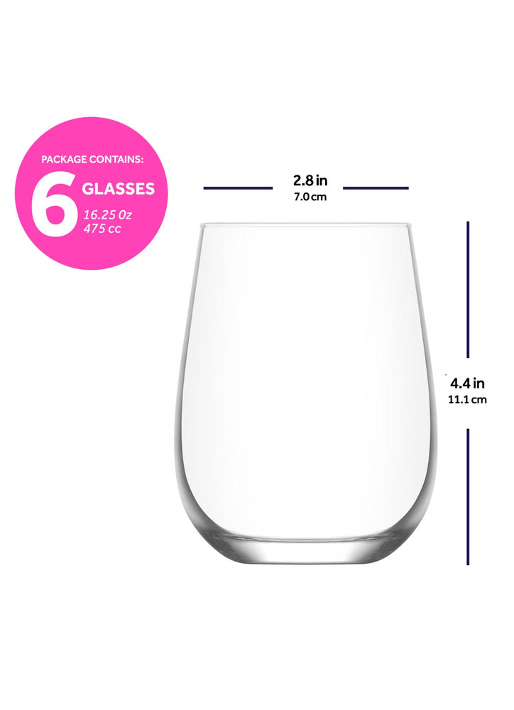 Load image into Gallery viewer, LAV Gaia 6-Piece Stemless Wine Glasses 16.25 oz