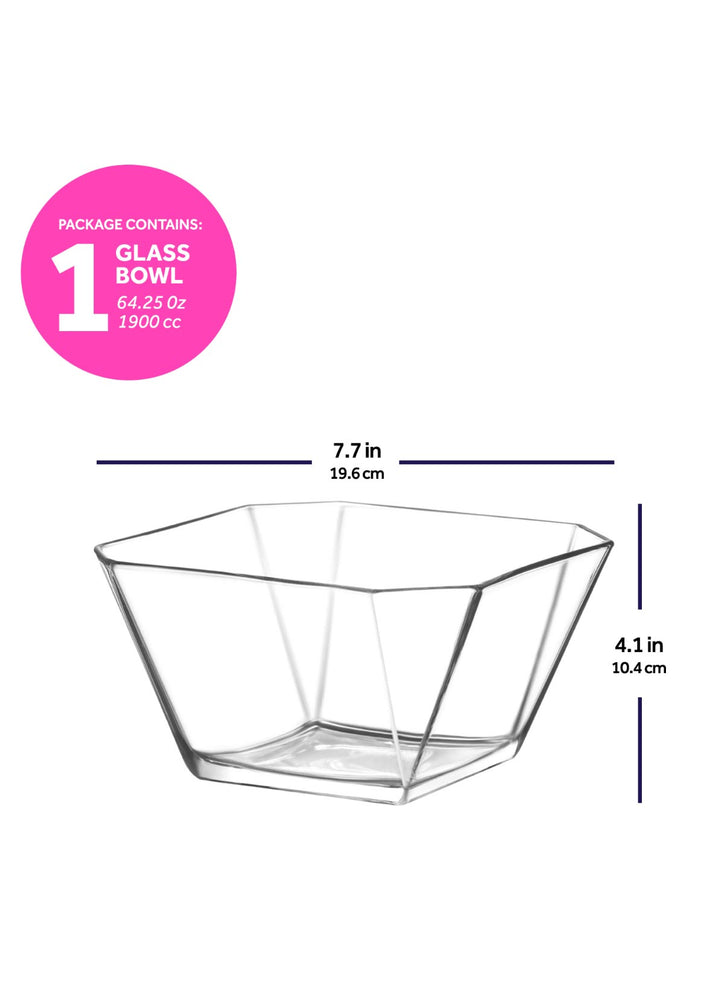 Load image into Gallery viewer, LAV Karen Clear Large Glass Salad Bowl 64 oz