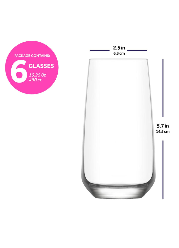 LAV Lal 18-Piece Wine & Whiskey & Drinking Glasses Set