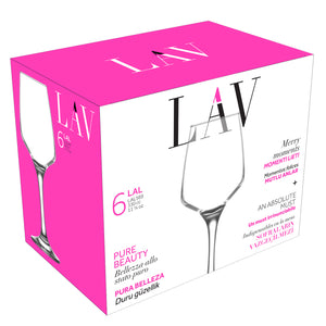 LAV Lal 6-Piece Clear Wine Glasses 11.25 oz
