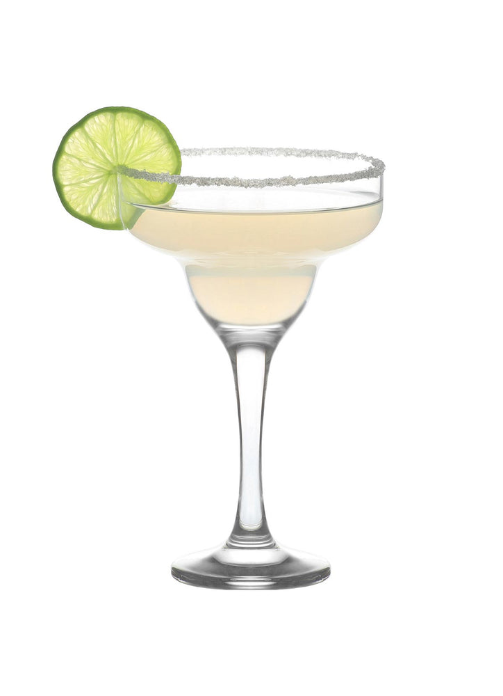 LAV Misket 6-Piece Margarita Cocktail Glasses, 10.25 oz
