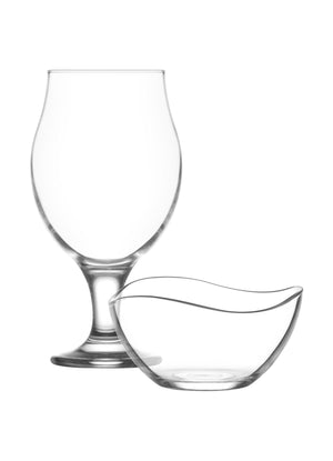 LAV Pubs 6-Piece 19.25 oz Beer Glasses & Bowls Set
