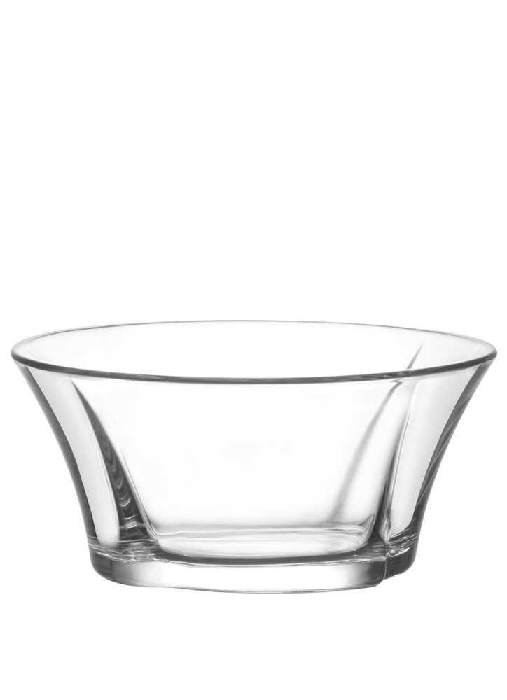 LAV Truva 6-Piece Clear Glass Bowls for Snacks and Desserts 10.5 oz
