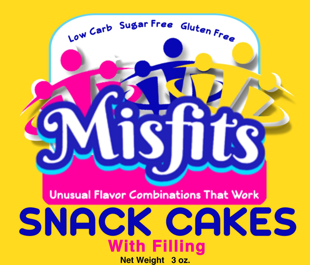 MisFits - 2 Snack Cakes w/Filling