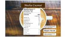 Load image into Gallery viewer, Mocha Coconut: Vegan Naturally Sweet Candy Bar