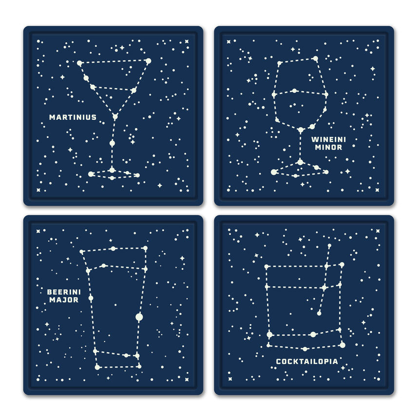 Bar Stars Glow-In-Dark Coasters