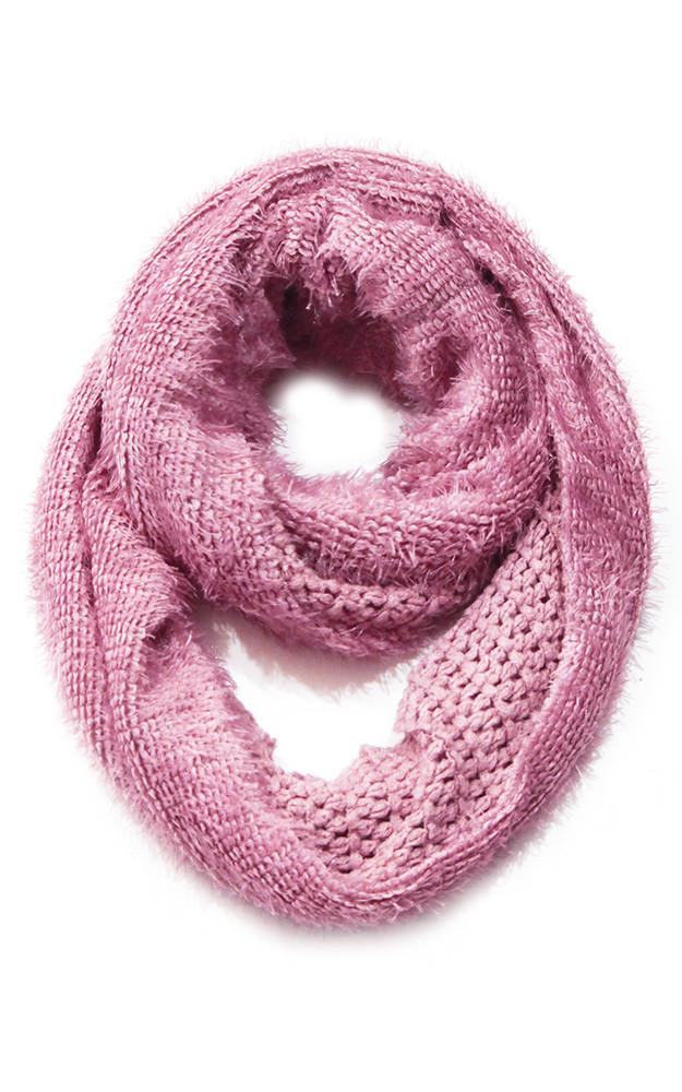 aran merino edition pink scarf infinity islands supersoft knitwear limited product