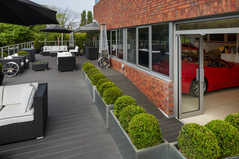 Trekker Composite Decking Outdoor Installation At Ferrari Dealership Wilmslow