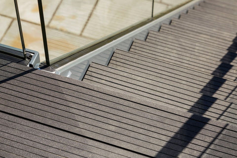 Composite Decking Residential Outdoor Stairs Installation