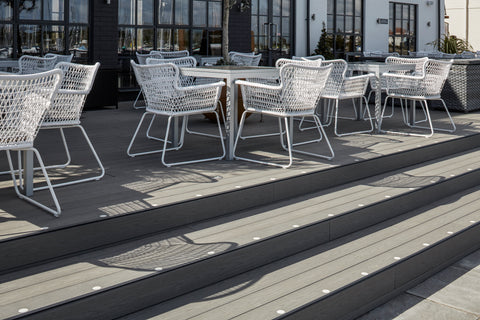 Outdoor Decking Installation At The Mulberry