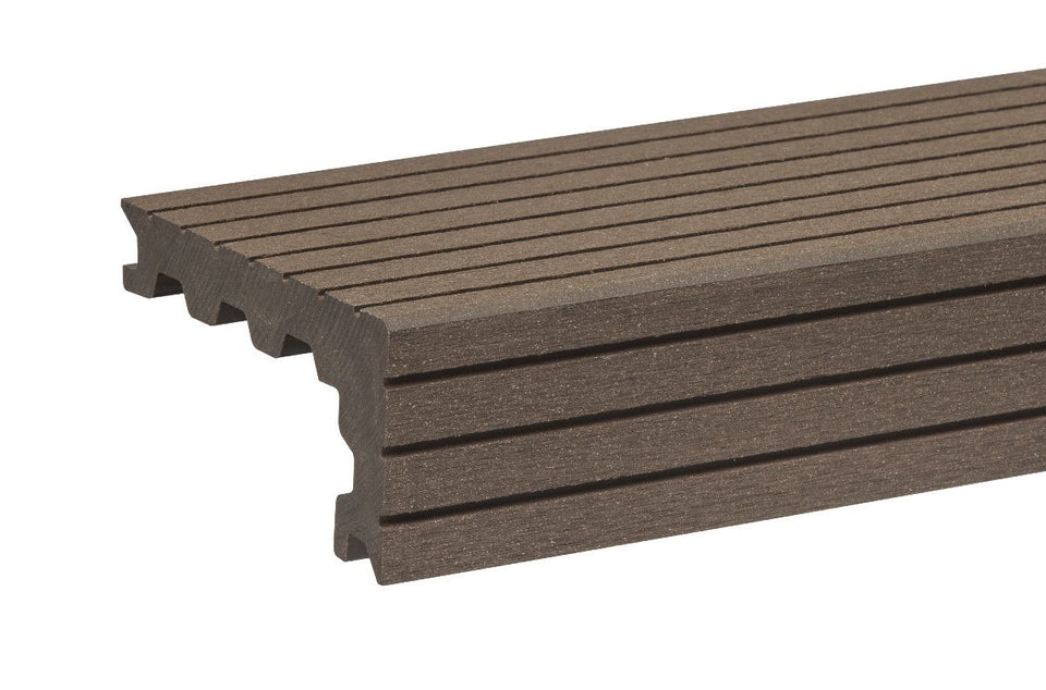 Chocolate Fluted Step Nosing By Trekker