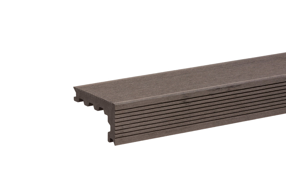 Grooved Chocolate Step Nosing  By Trekker