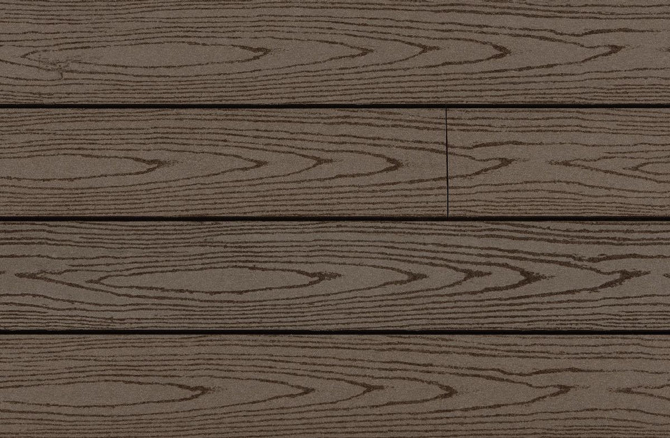 Standard Width Wood Grain Composite Deck Boards