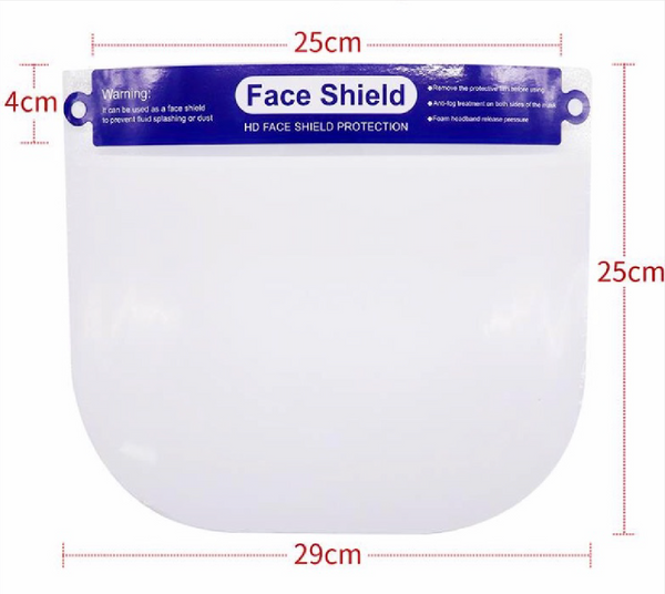 Face Shields (Case of 200 Shields)
