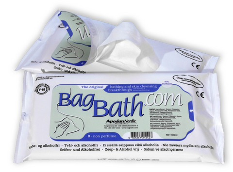 BagBath Waterless Bathing Wipe (Case of 30 packs)