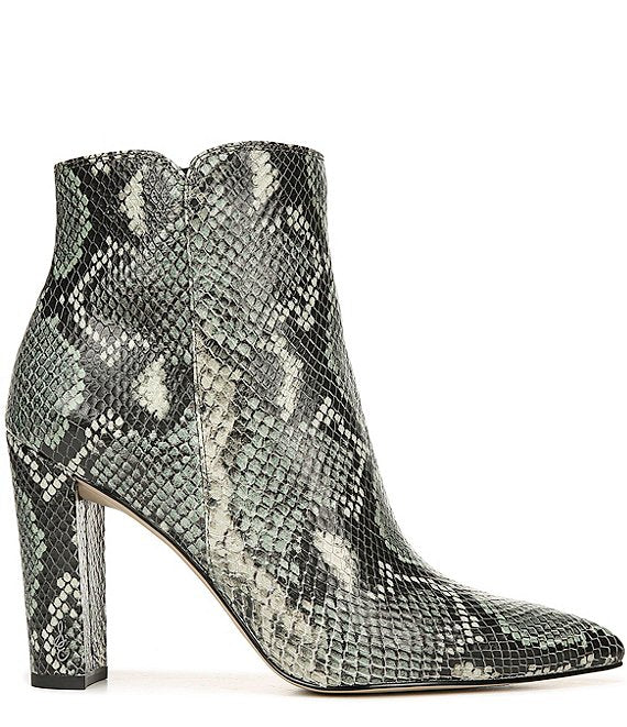 Raelle Snake Pointed Toe Bootie - Mint Multi