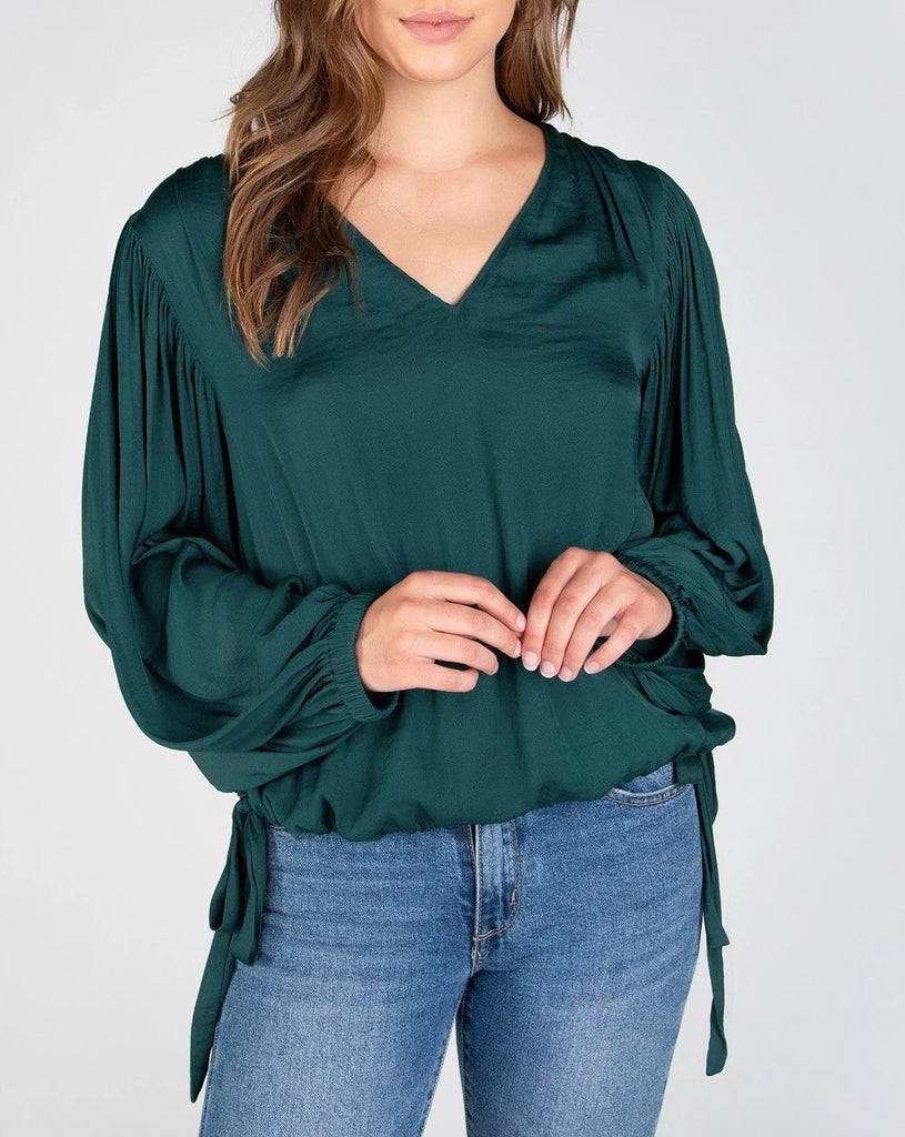 Woven Blouse - Forest Green