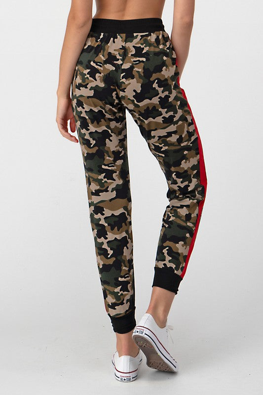 Camo Knit Jogger - Red