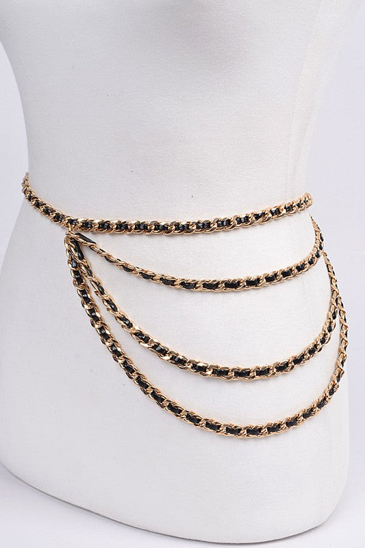 Drop Bulk Cross Chain Belt