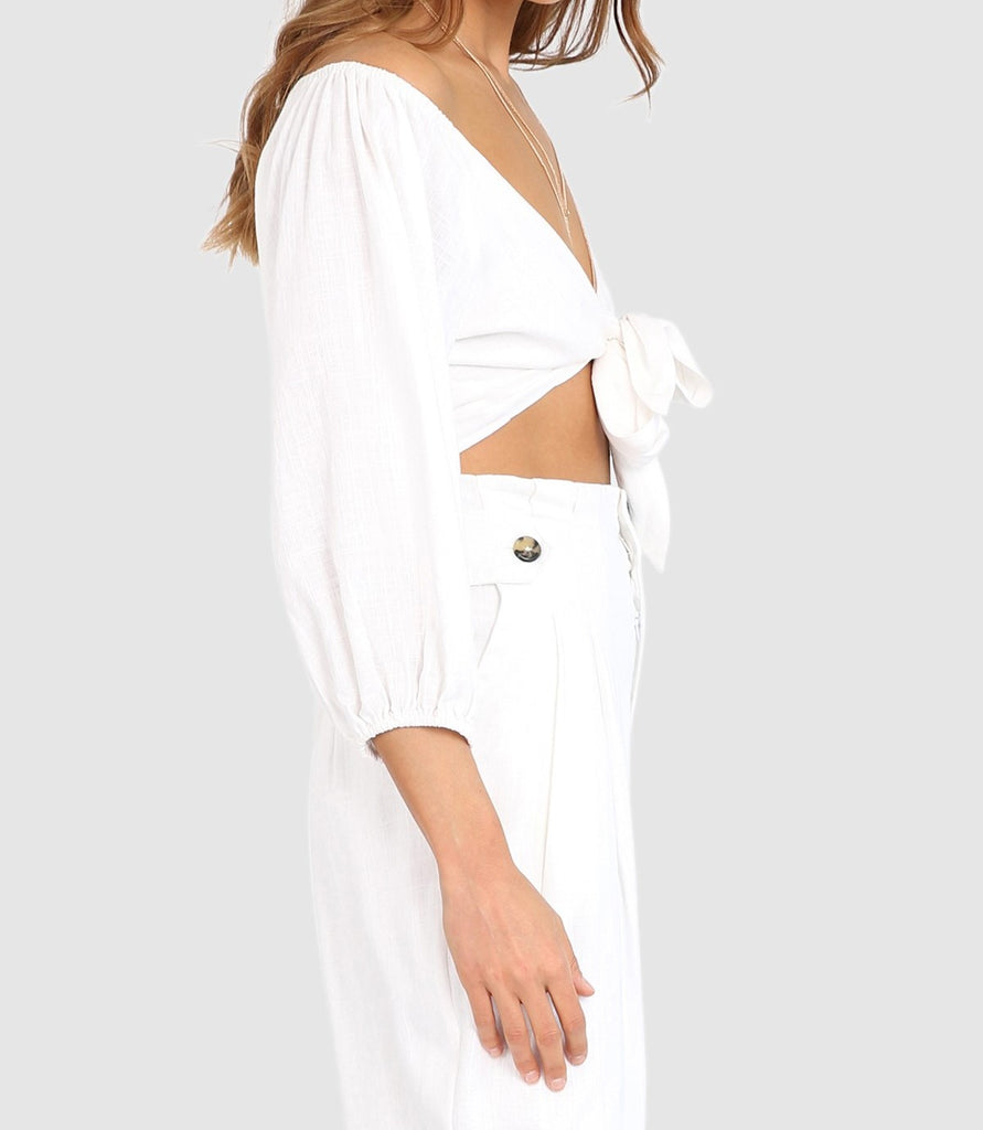 Miray Crop in White