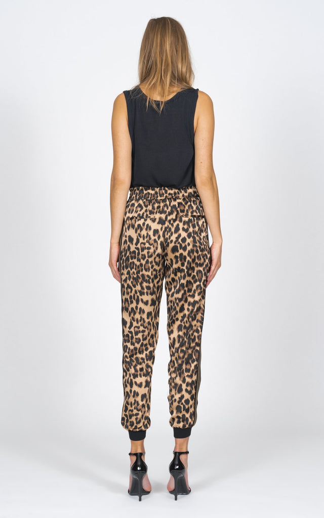 Luxe Jogger - Satin Leopard