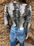 Snakeskin Long Sleeve