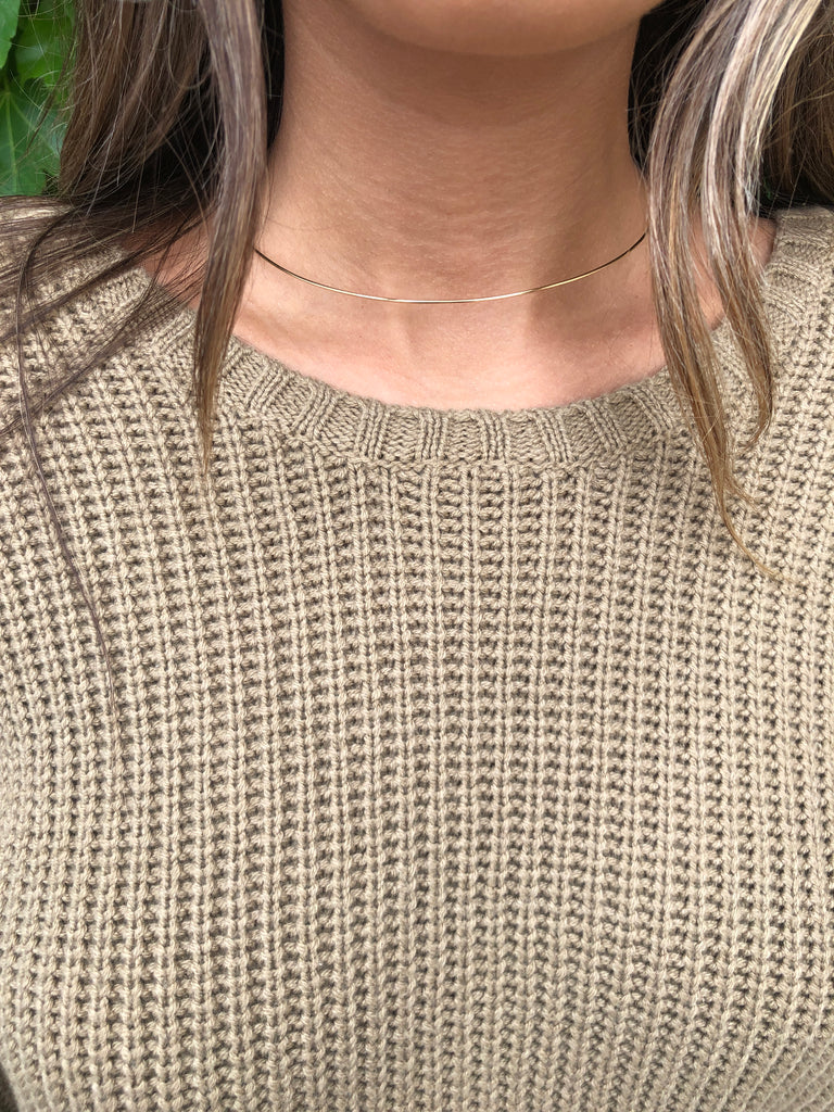 Brown Sunset Road Sweater