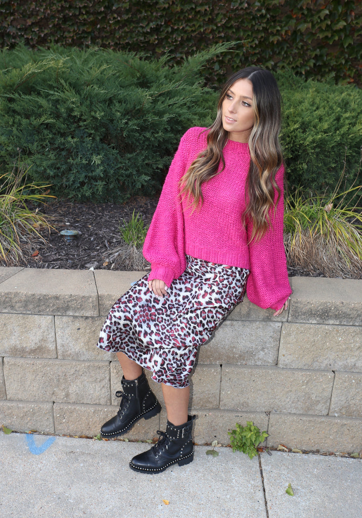 Bia Leopard Skirt - Purple SALE!