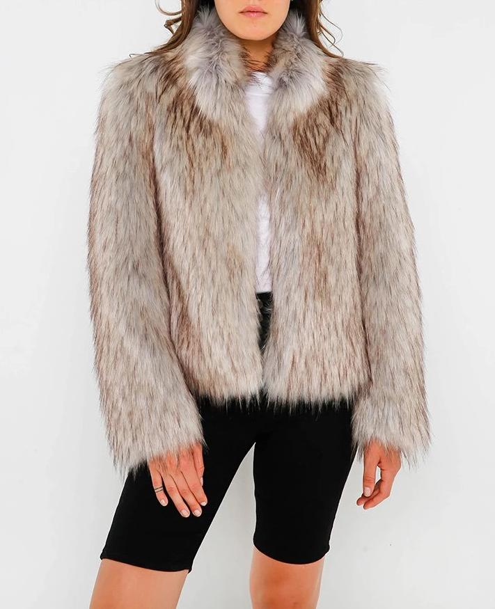 Fur Delicious Jacket - Natural 50% OFF