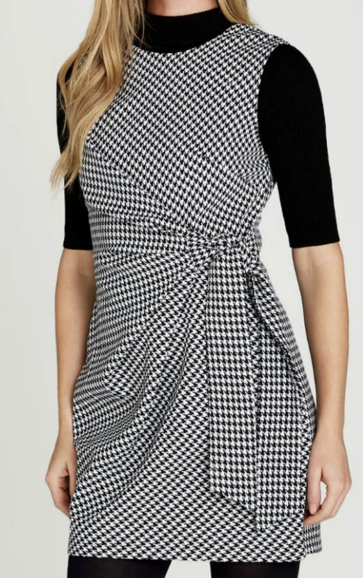 Houndstooth Side Knot Dress