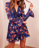 Visions Long Sleeve Floral Dress