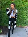 Black and White Blanket Cardigan 50% OFF