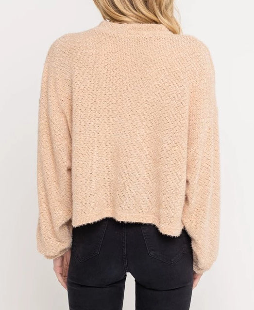 Chloe Cropped Sweater - Taupe