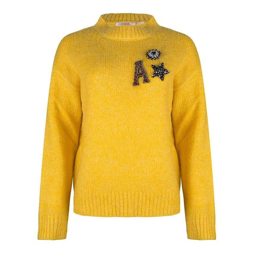 Sweater Basic R/Neck - Yellow
