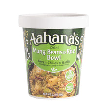 Load image into Gallery viewer, Aahana's Delhi Mung Beans & Rice Bowl (Khichdi) - Gluten-Free, 16g Plant-Based Protein, Vegan, Non-GMO, Ready-to-Eat Meal (2.3oz., Pack of 4)