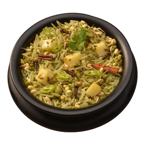 Sprouted Mung Beans and Rice Bowl (Khichdi) - Gluten Free and 15g Plant Based Protein in each bowl!