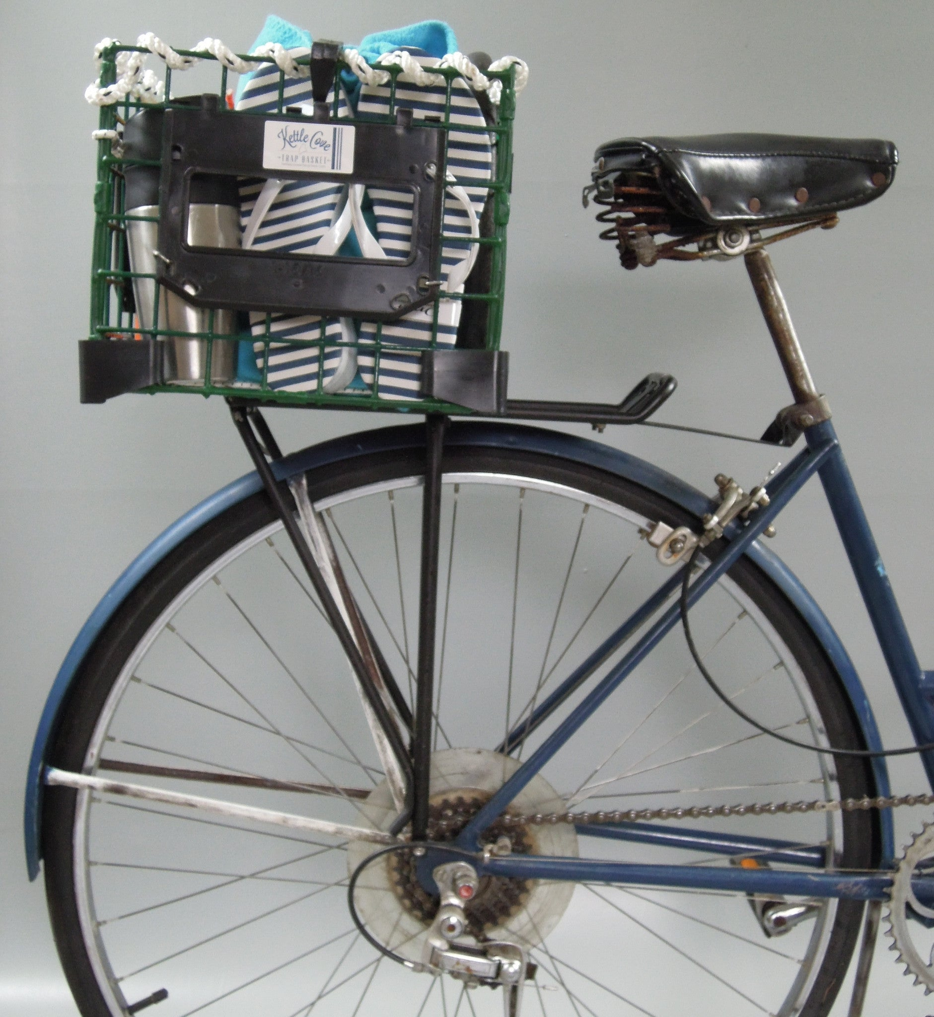 the fixed rear bicycle trap basket kettle cove enterprises