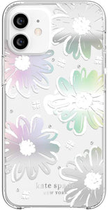 Kate Spade Protective Hardshell Case Daisy Iridescent Foil for iPhone 12 mini