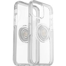 Load image into Gallery viewer, Otterbox Otter + Pop Symmetry Clear Case with PopTop Clear/Off White for iPhone 12/12 Pro