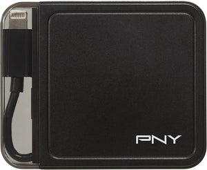 PNY PowerPack L1500 Battery Power Adapter with integrated Lightning Cable