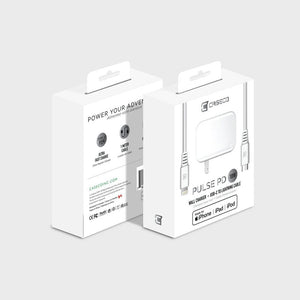 Caseco Pulse PD 18W Wall Charger with Lightning to USB-C Cable