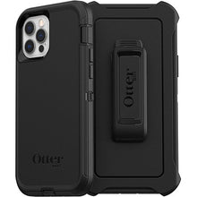Load image into Gallery viewer, Otterbox Defender Protective Case Black for iPhone 12/12 Pro