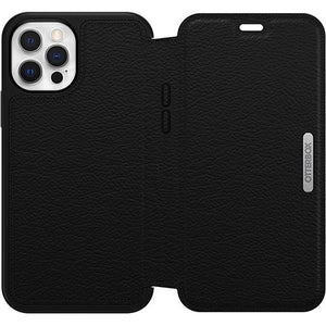 Otterbox Strada Folio Leather Case Black/Pewter for iPhone 12/12 Pro