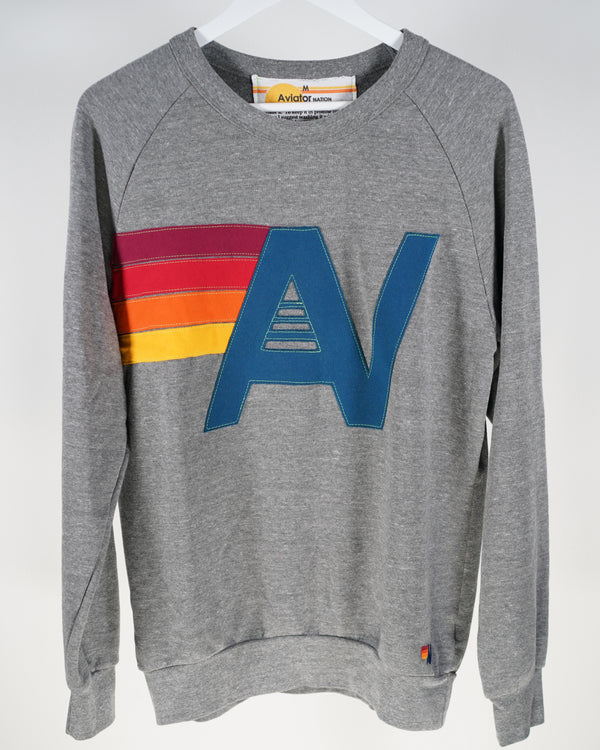 Aviator Nation Logo Sweatshirt in Grey