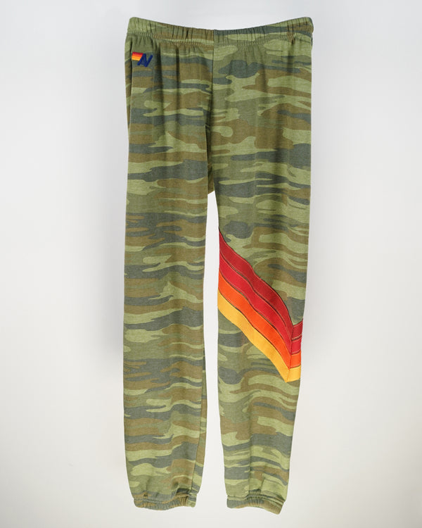 Aviator Nation Stripe Sweatpants in Camo